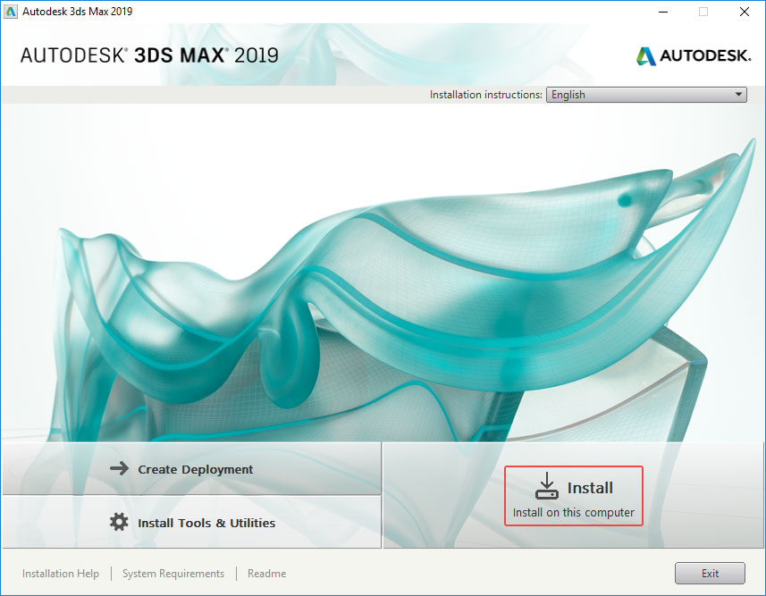 install 3ds max 2019